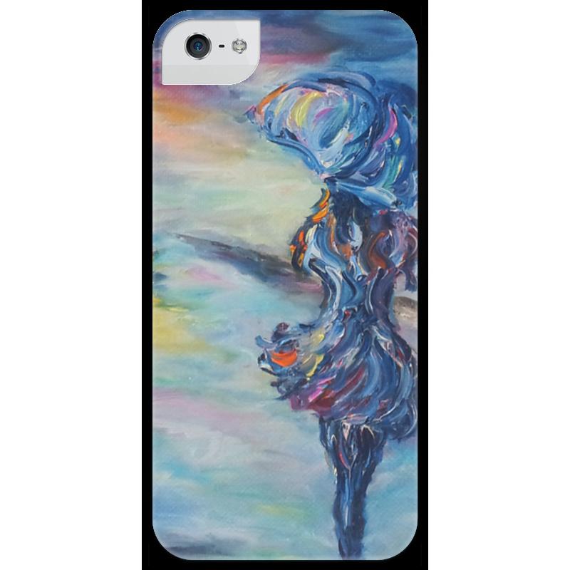 Чехол для iPhone 5 глянцевый, с полной запечаткой Printio Навстречу счастью чехол для iphone 5 printio чехол с мыслями о любви