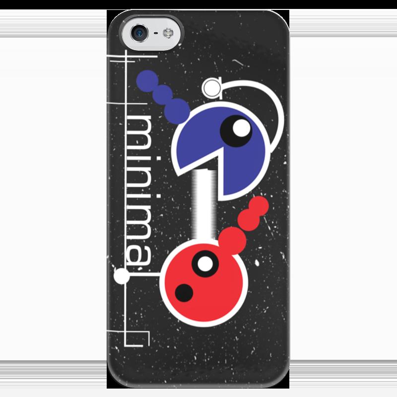 Чехол для iPhone 5 глянцевый, с полной запечаткой Printio Минимал чехол для iphone 5 глянцевый с полной запечаткой printio рябина 5