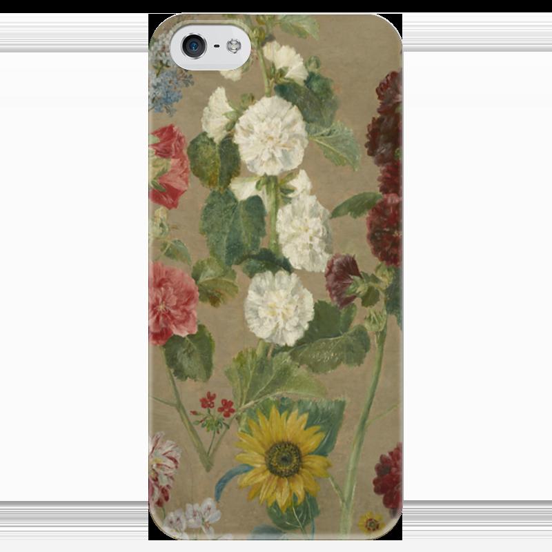 Чехол для iPhone 5 глянцевый, с полной запечаткой Printio Цветы (эжен делакруа)