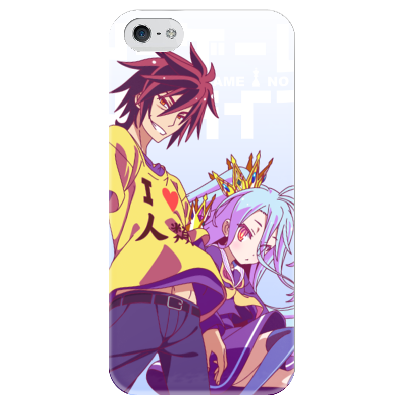 Чехол для iPhone 5 глянцевый, с полной запечаткой Printio No game no life 10cm no game no life q version anime action figure pvc new collection figures toys collection for christmas gift