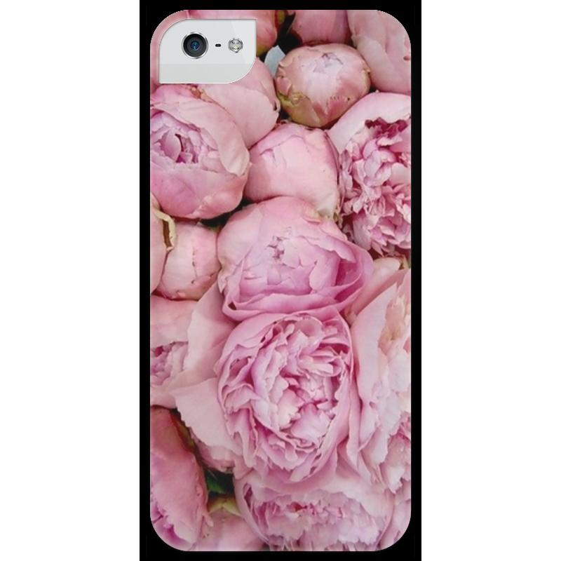 Чехол для iPhone 5 глянцевый, с полной запечаткой Printio Цветочный принт чехол для iphone 6 глянцевый printio цветочный