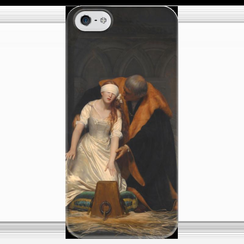 Чехол для iPhone 5 глянцевый, с полной запечаткой Printio Казнь джейн грей (картина делароша) перри энн казнь на вестминстерском мосту