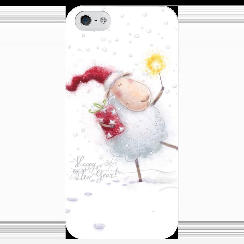 Чехол для iPhone 5 глянцевый, с полной запечаткой Printio Happy new year new for v5000 00y5794 146g sas 2 5 6g 1 year warranty