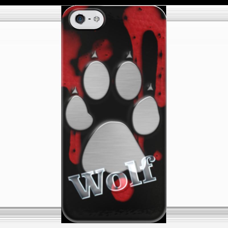 Чехол для iPhone 5 глянцевый, с полной запечаткой Printio Лапа волка чехол для iphone 5 глянцевый с полной запечаткой printio wolf gang tyler the creator