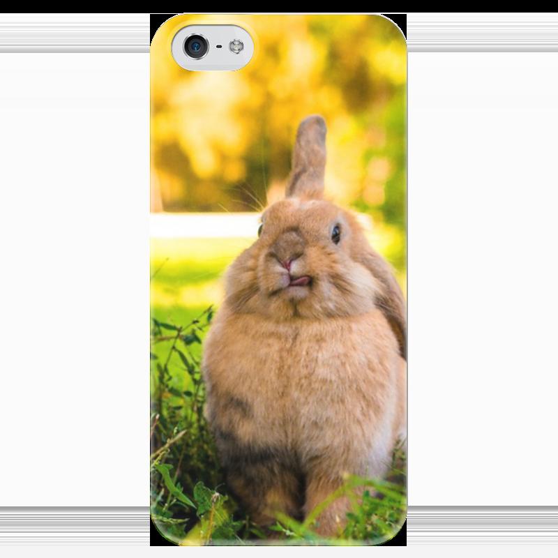 Чехол для iPhone 5 глянцевый, с полной запечаткой Printio Кролик чехол для iphone 5 глянцевый с полной запечаткой printio spinner mobile white спиннер чехол