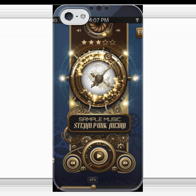 Чехол для iPhone 5 глянцевый, с полной запечаткой Printio Стимпанк-музыка ii