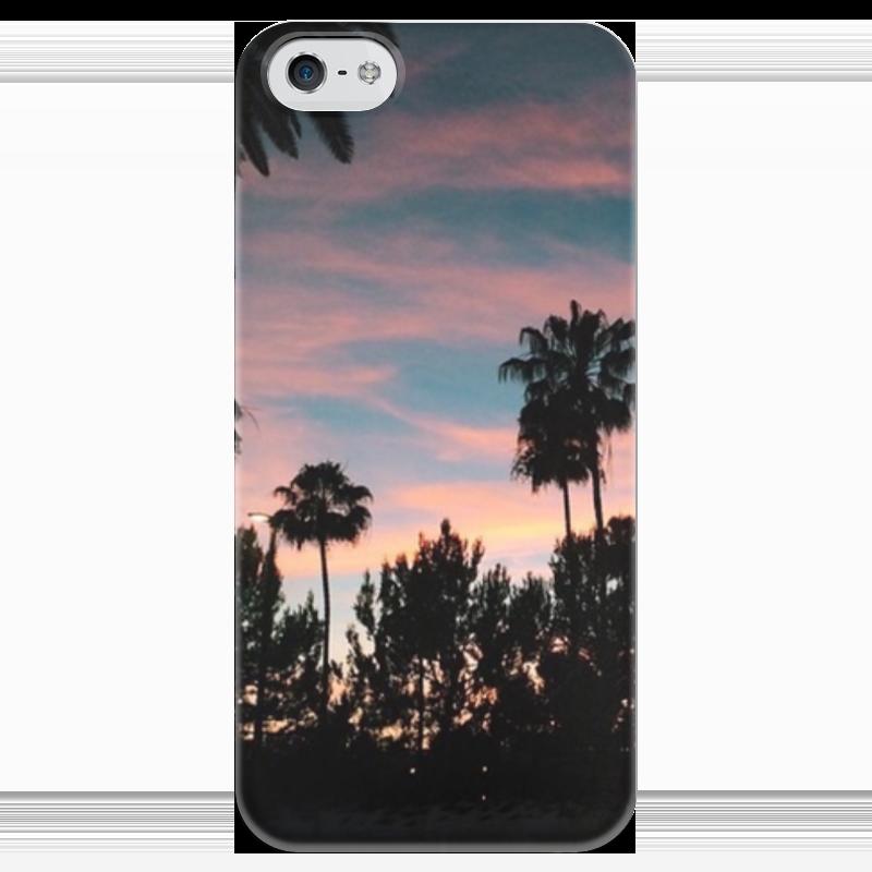 Чехол для iPhone 5 глянцевый, с полной запечаткой Printio Закат чехол для iphone 5 глянцевый с полной запечаткой printio анютины глазки