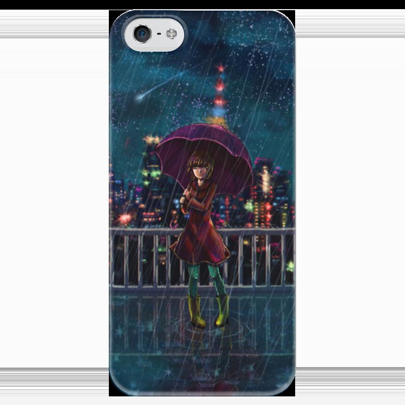 Чехол для iPhone 5 глянцевый, с полной запечаткой Printio Ночное небо фаворит ночное небо 17 ft 4012