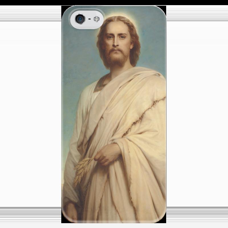 Чехол для iPhone 5 глянцевый, с полной запечаткой Printio Христос на ниве (фрэнк бернард дикси) вышивка бисером молящийся христос