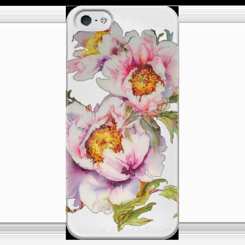 Чехол для iPhone 5 глянцевый, с полной запечаткой Printio Цветочное настроение.