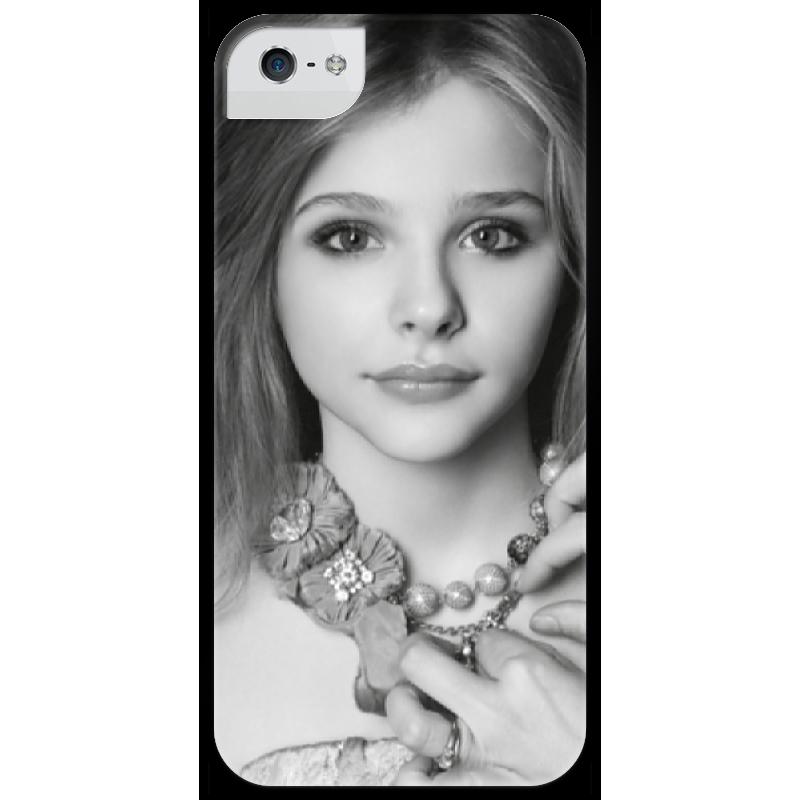 Чехол для iPhone 5 глянцевый, с полной запечаткой Printio Хлоя грейс морец чехол для iphone 5 5s ретро павлин bird блесточки кобура горный хрусталь полиуретан кожа откидной чехол