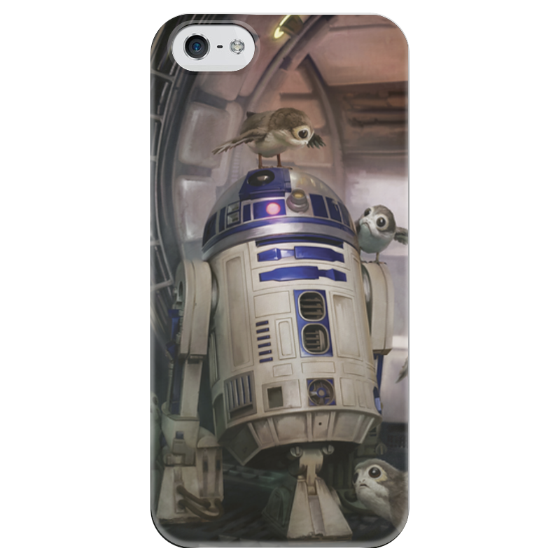 Чехол для iPhone 5 глянцевый, с полной запечаткой Printio Звездные войны - r2-d2 чехол для iphone 5 глянцевый с полной запечаткой printio star wars звездные войны