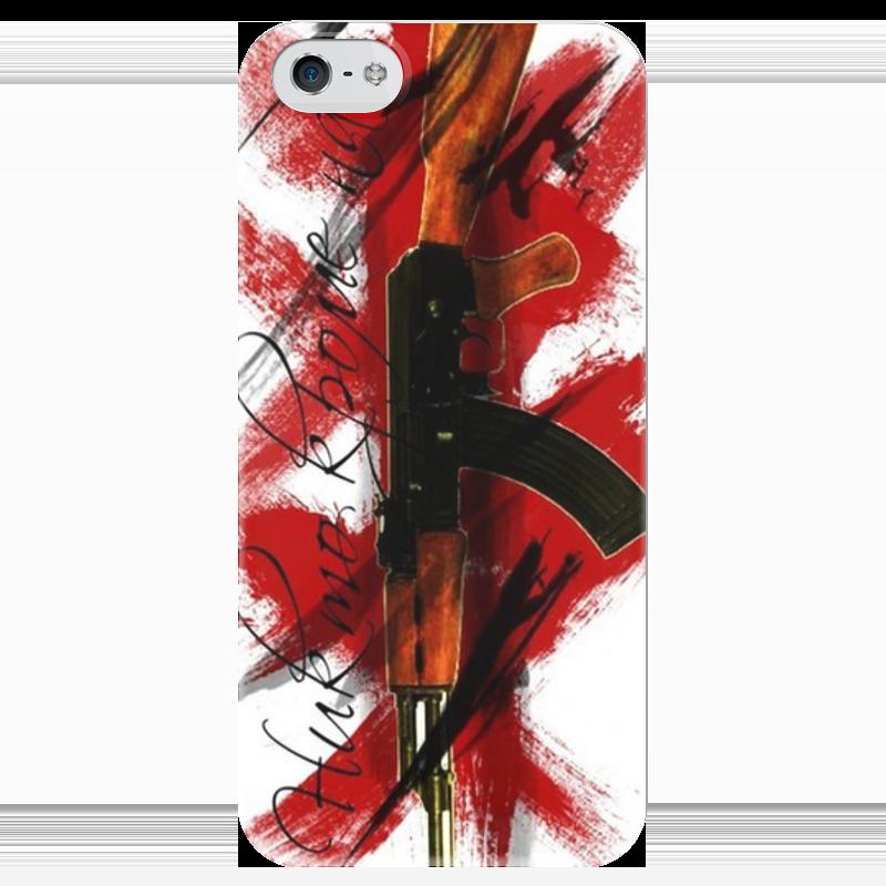 Чехол для iPhone 5 глянцевый, с полной запечаткой Printio Треш полька свитшот print bar треш полька