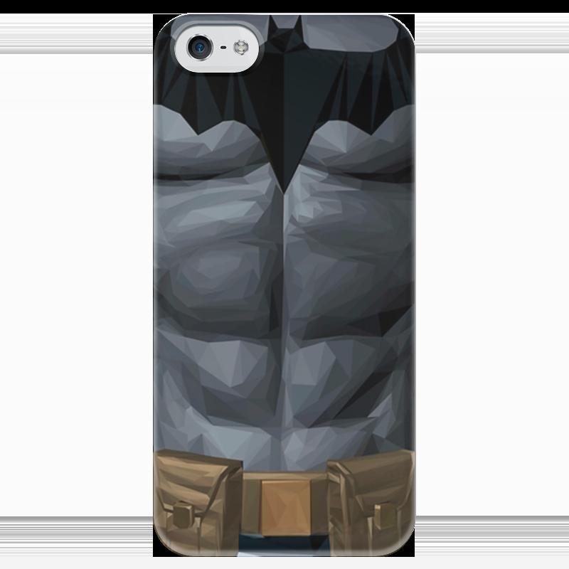 Чехол для iPhone 5 глянцевый, с полной запечаткой Printio Бэтмен чехол для iphone 5 глянцевый с полной запечаткой printio spinner mobile white спиннер чехол