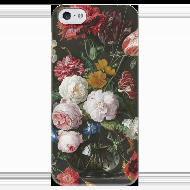 Чехол для iPhone 5 глянцевый, с полной запечаткой Printio Цветочный букет в стеклянной вазе (ян де хем) ян ван хейсум