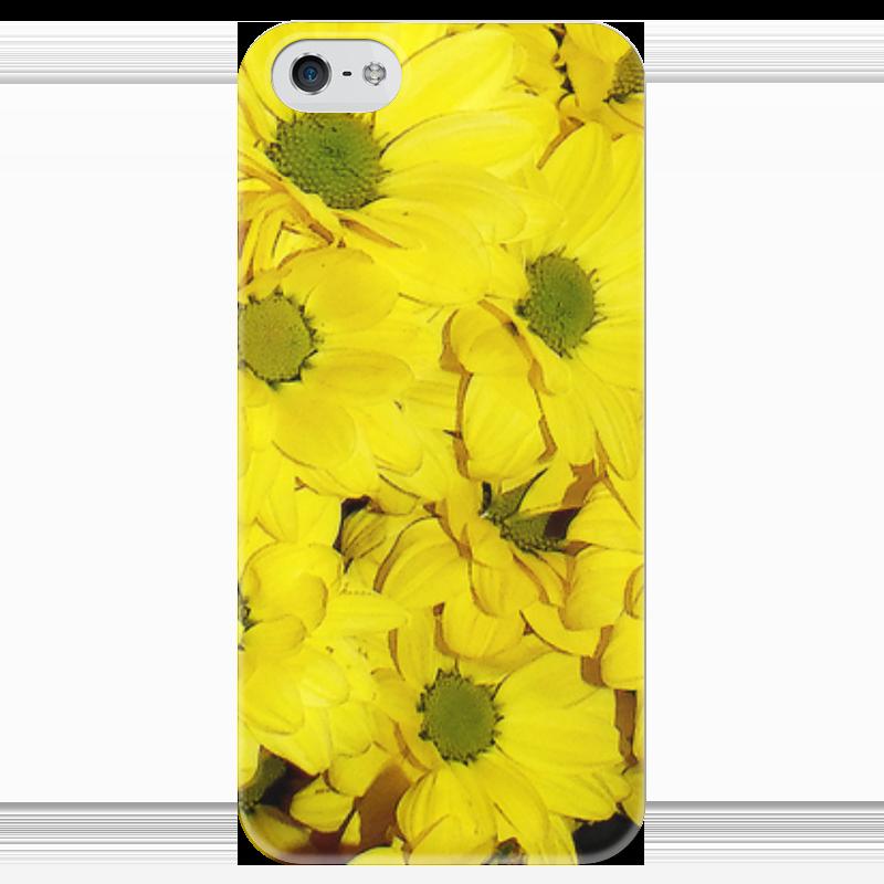 Чехол для iPhone 5 глянцевый, с полной запечаткой Printio Жёлтые хризантемы татьяна шпинькова белые хризантемы