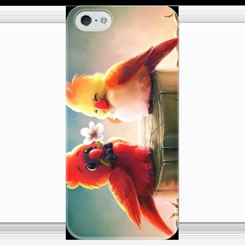 Чехол для iPhone 5 глянцевый, с полной запечаткой Printio Пташки чехол для iphone 5 глянцевый с полной запечаткой printio цикличность