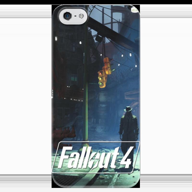 Чехол для iPhone 5 глянцевый, с полной запечаткой Printio Fallout 4 stranger чехол для iphone 4 глянцевый с полной запечаткой printio кролик