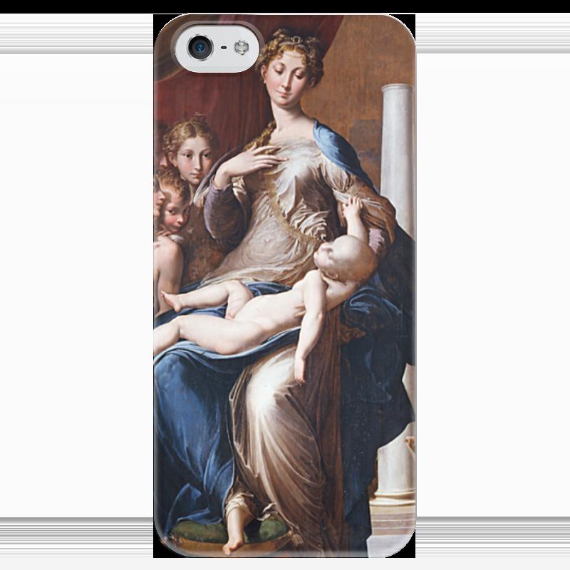 Чехол для iPhone 5 глянцевый, с полной запечаткой Printio Мадонна с длинной шеей (картина пармиджанино)