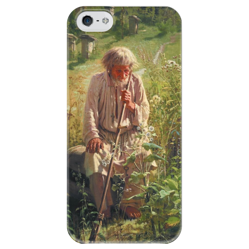 художник владимир пасечник Чехол для iPhone 5 глянцевый, с полной запечаткой Printio Пасечник (картина крамского)