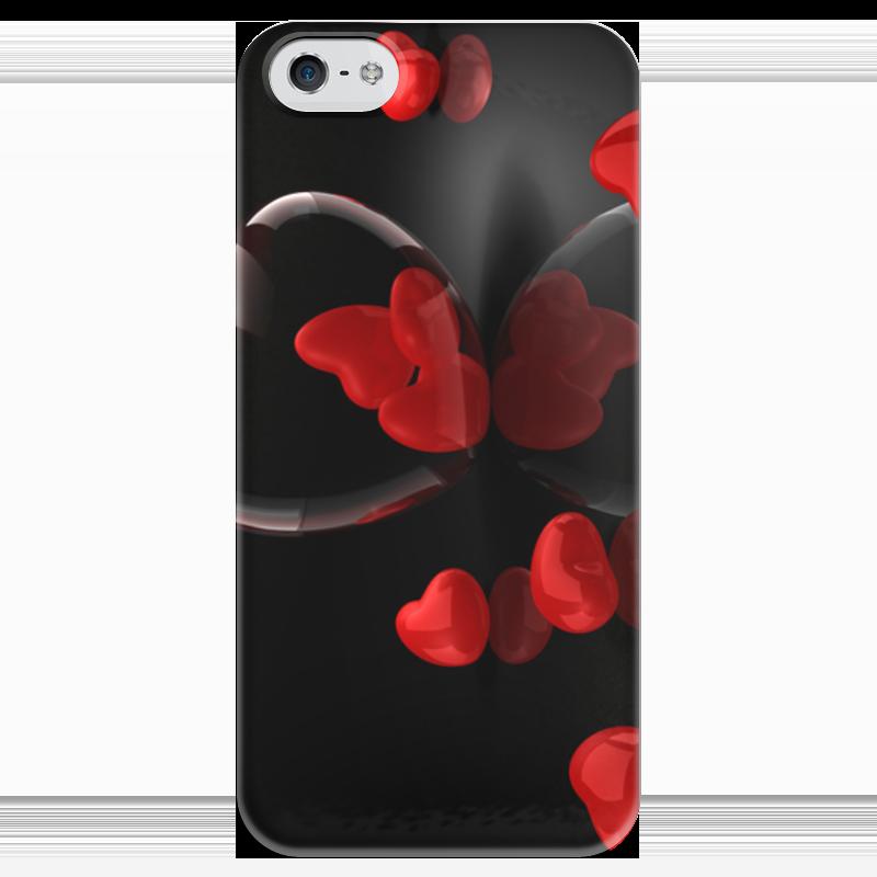 Чехол для iPhone 5 глянцевый, с полной запечаткой Printio Любовь чехол для iphone 4 глянцевый с полной запечаткой printio любовь наше сопротивление