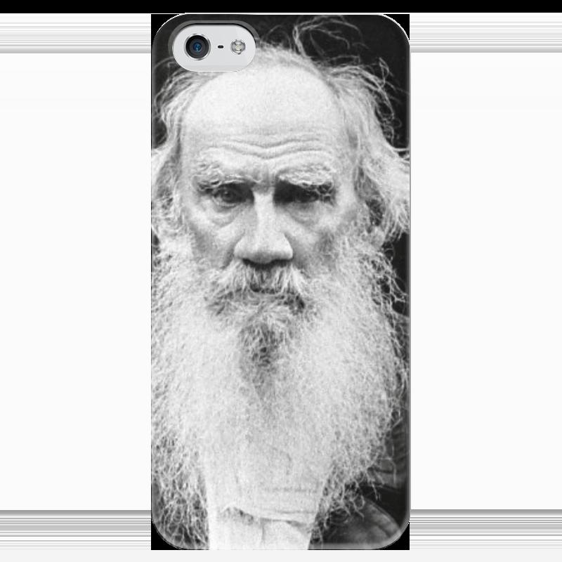 Чехол для iPhone 5 глянцевый, с полной запечаткой Printio Толстой чехол для iphone 5 глянцевый с полной запечаткой printio ember spirit dota 2
