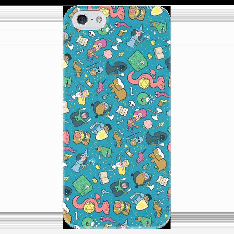 Чехол для iPhone 5 глянцевый, с полной запечаткой Printio Dungeons & patterns чехол для iphone 4 глянцевый с полной запечаткой printio эфиопка