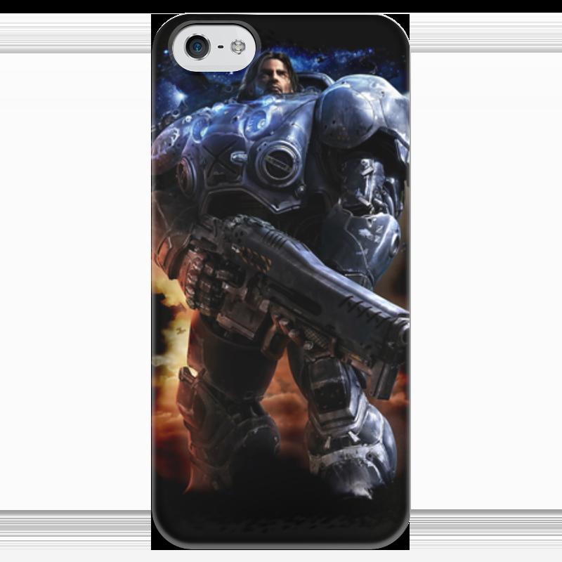 Чехол для iPhone 5 глянцевый, с полной запечаткой Printio Starcraft terran чехол для iphone 5 глянцевый с полной запечаткой printio ember spirit dota 2