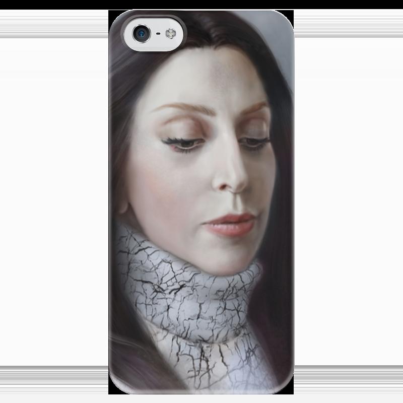 Чехол для iPhone 5 глянцевый, с полной запечаткой Printio Lady gaga artpop fan art чехол для iphone 7 глянцевый printio horror art