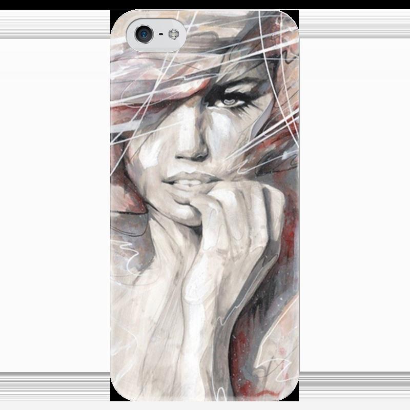 Чехол для iPhone 5 глянцевый, с полной запечаткой Printio Девушка чехол для iphone 4 глянцевый с полной запечаткой printio бэтмен