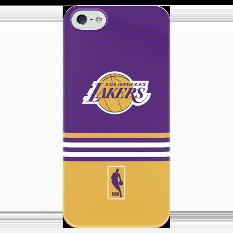 Чехол для iPhone 5 глянцевый, с полной запечаткой Printio Lakers case pro баскетбольную форму lakers
