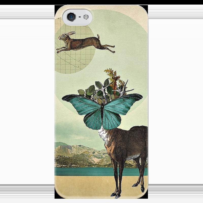 Чехол для iPhone 5 глянцевый, с полной запечаткой Printio Jump! чехол для iphone 5 с подставкой с полной запечаткой printio котосмонавт
