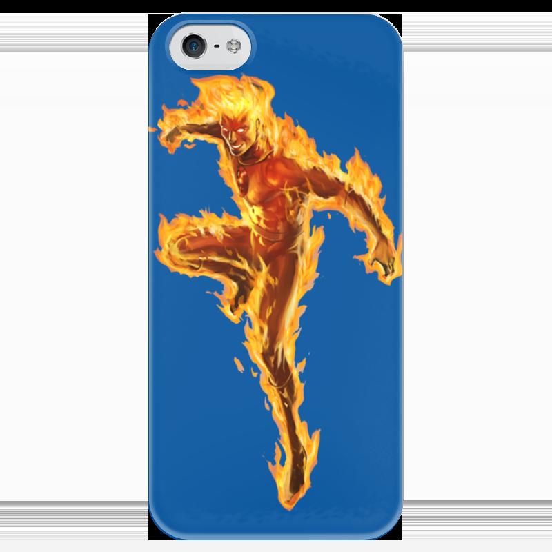 Чехол для iPhone 5 глянцевый, с полной запечаткой Printio Фантастическая 4 человек факел (fantastic 4) чехол для iphone 4 глянцевый с полной запечаткой printio бэтмен