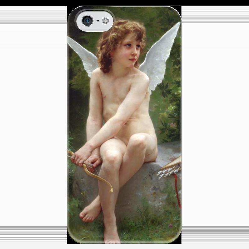 Чехол для iPhone 5 глянцевый, с полной запечаткой Printio Подстерегающая любовь (вильям бугро) чехол для iphone 5 глянцевый с полной запечаткой printio любовь