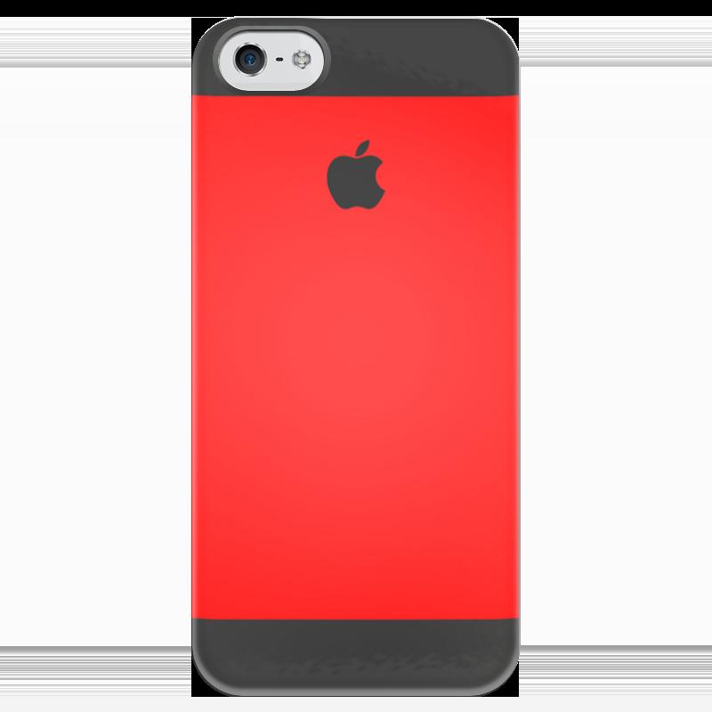Чехол для iPhone 5 глянцевый, с полной запечаткой Printio Арбуз