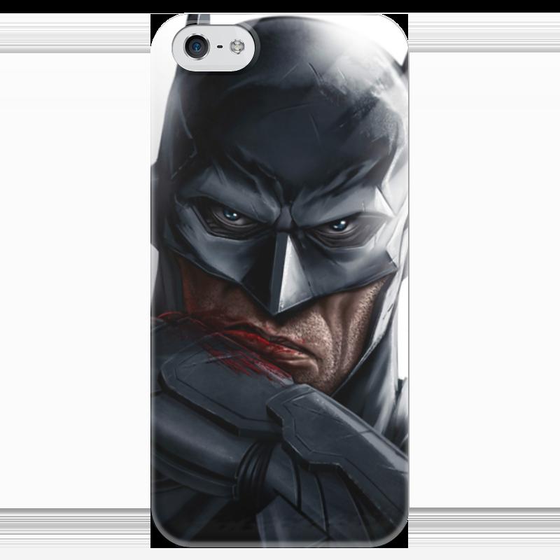 Чехол для iPhone 5 глянцевый, с полной запечаткой Printio Бэтмен чехол для iphone 5 с подставкой с полной запечаткой printio котосмонавт