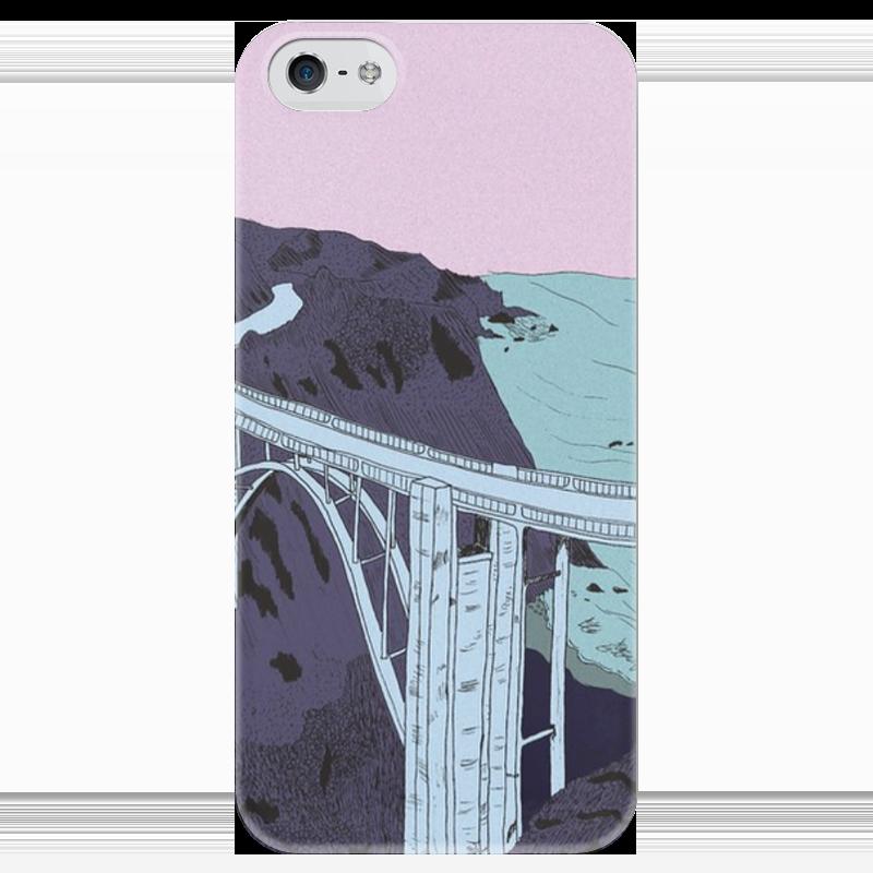Чехол для iPhone 5 глянцевый, с полной запечаткой Printio Мост галеев р каинов мост