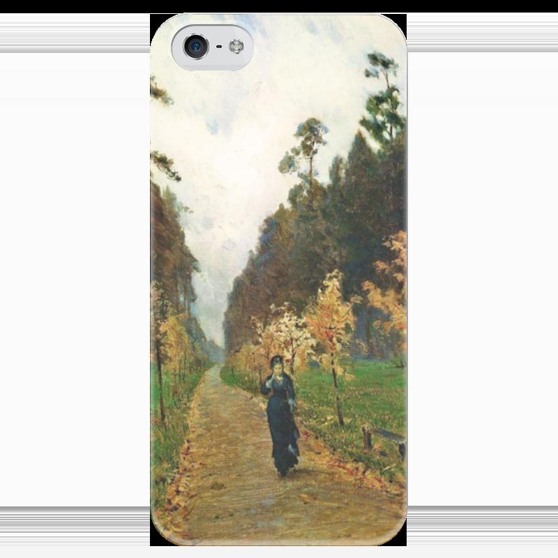 Чехол для iPhone 5 глянцевый, с полной запечаткой Printio Осенний день. сокольники (левитан) сорочка и стринги soft line mia размер s m цвет белый