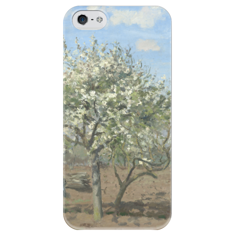 Чехол для iPhone 5 глянцевый, с полной запечаткой Printio Фруктовый сад в цвету чехол для iphone 6 глянцевый printio летний сад