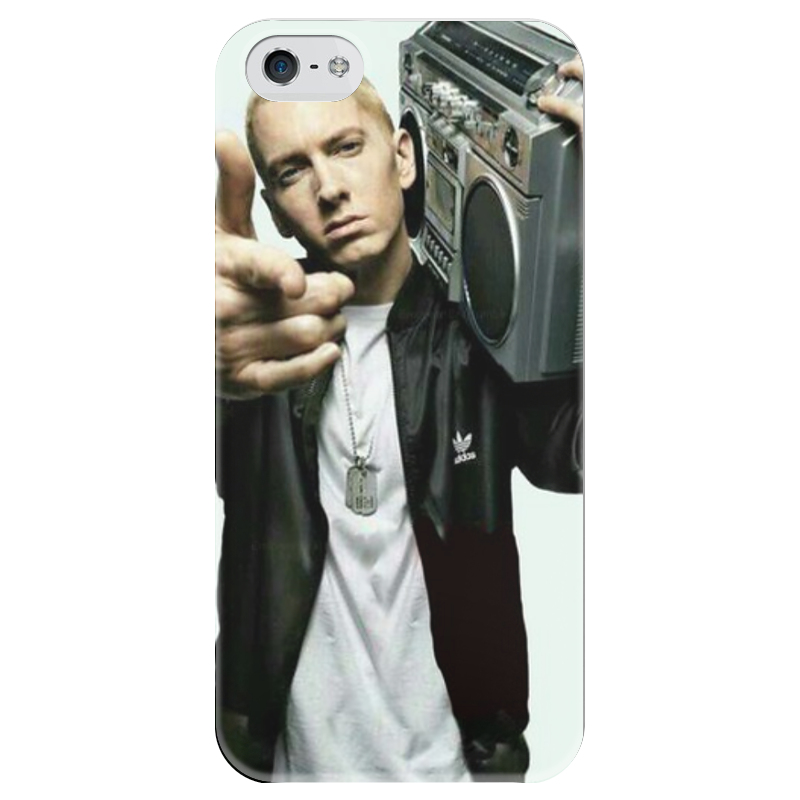 Чехол для iPhone 5 глянцевый, с полной запечаткой Printio Eminem graceful faux turquoise rhinestone leaf tassel necklace for women