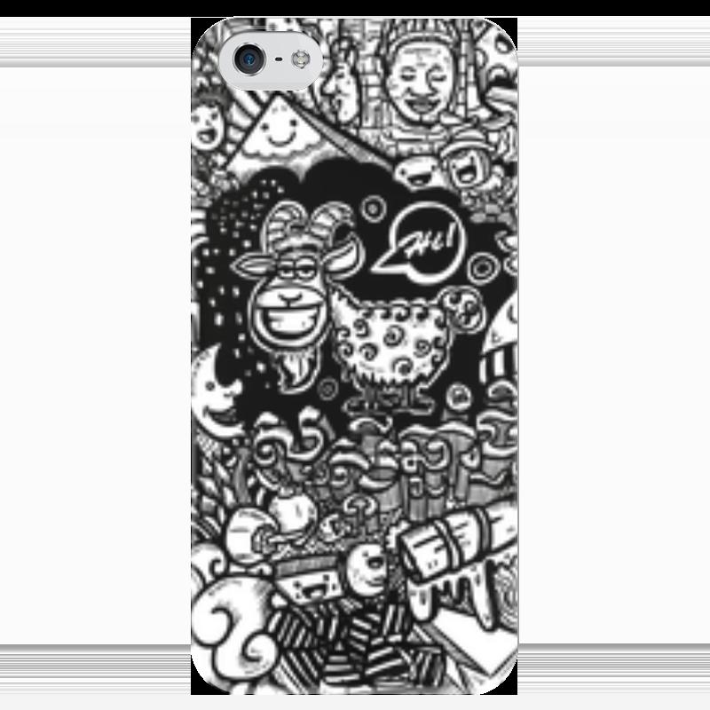 Чехол для iPhone 5 глянцевый, с полной запечаткой Printio Иллюстрация чехол для iphone 4 глянцевый с полной запечаткой printio бэтмен