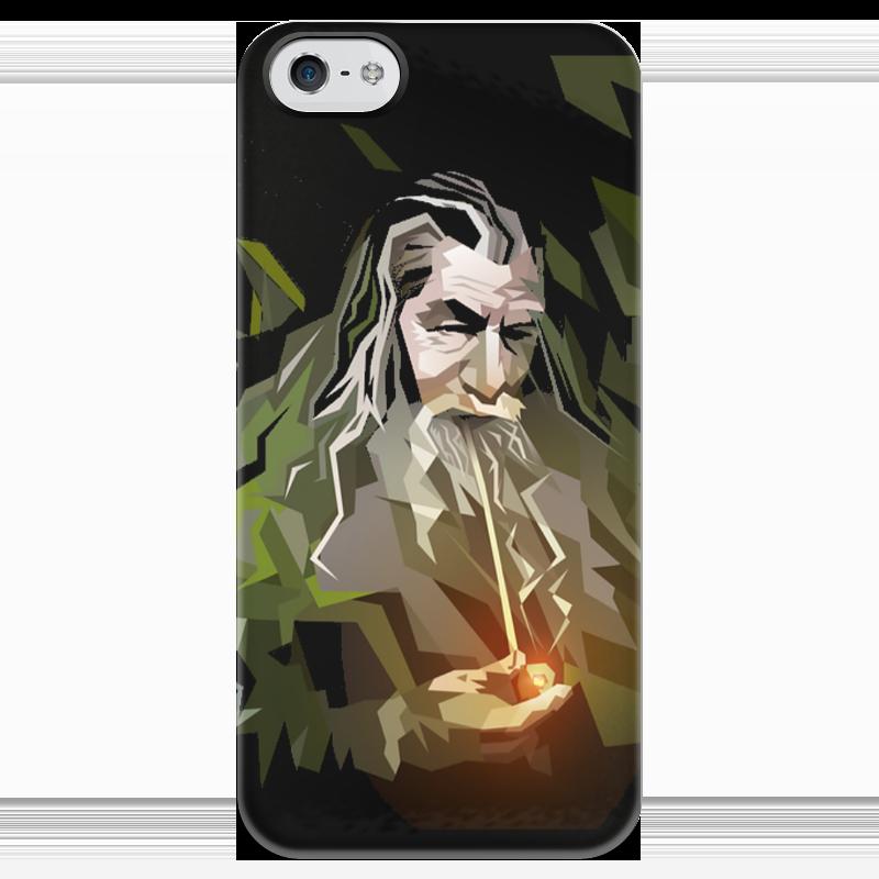 Чехол для iPhone 5 глянцевый, с полной запечаткой Printio Гендальф чехол для iphone 5 глянцевый с полной запечаткой printio иллид