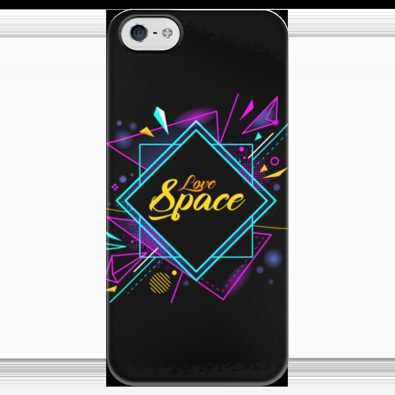 Чехол для iPhone 5 глянцевый, с полной запечаткой Printio Love space чехол для iphone 5 глянцевый с полной запечаткой printio love
