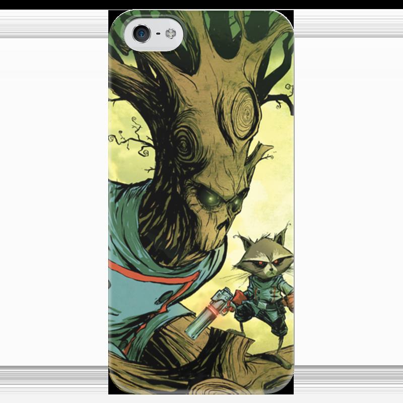Чехол для iPhone 5 глянцевый, с полной запечаткой Printio Comics art series: стражи галактики