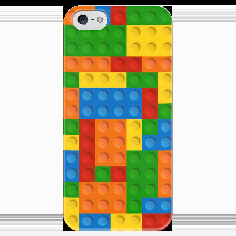 Чехол для iPhone 5 глянцевый, с полной запечаткой Printio Конструктор лего детское лего gudi