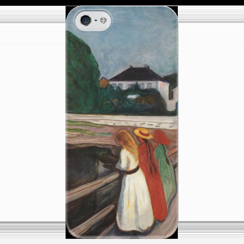 Чехол для iPhone 5 глянцевый, с полной запечаткой Printio Девушки на мосту вышивка на аничковом мосту