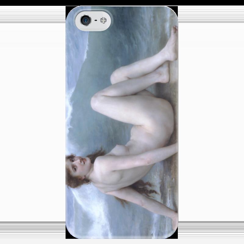 все цены на Чехол для iPhone 5 глянцевый, с полной запечаткой Printio Волна (картина бугро) онлайн