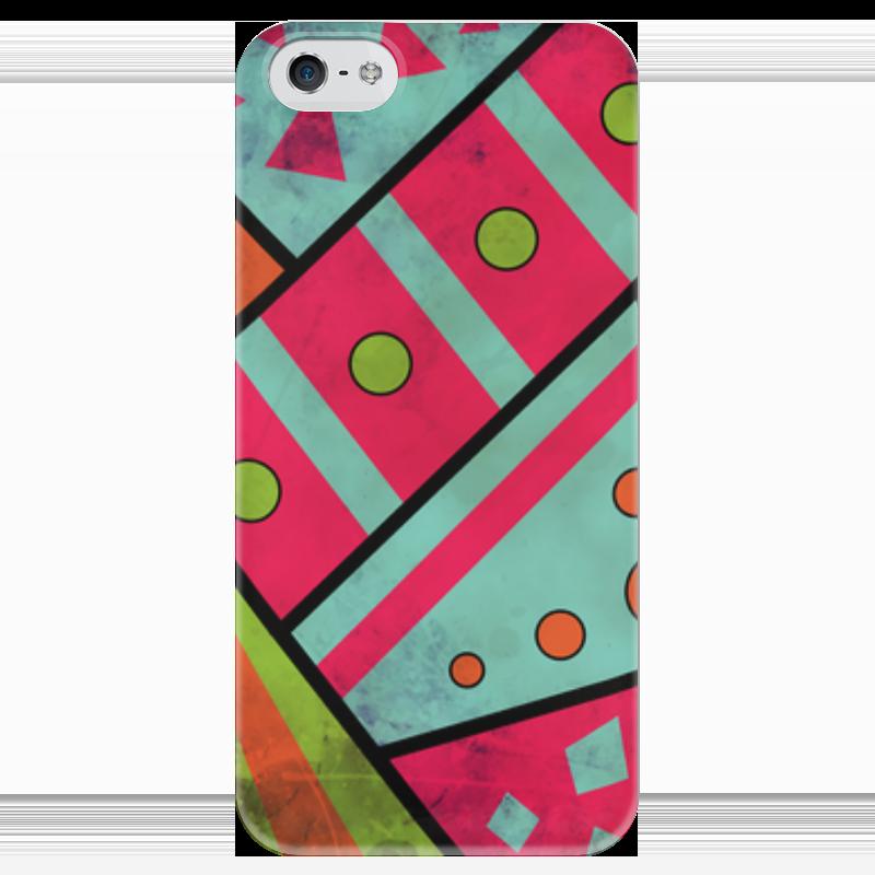 Чехол для iPhone 5 глянцевый, с полной запечаткой Printio Яркая геометрия чехол для iphone 5 глянцевый с полной запечаткой printio осенний день сокольники левитан