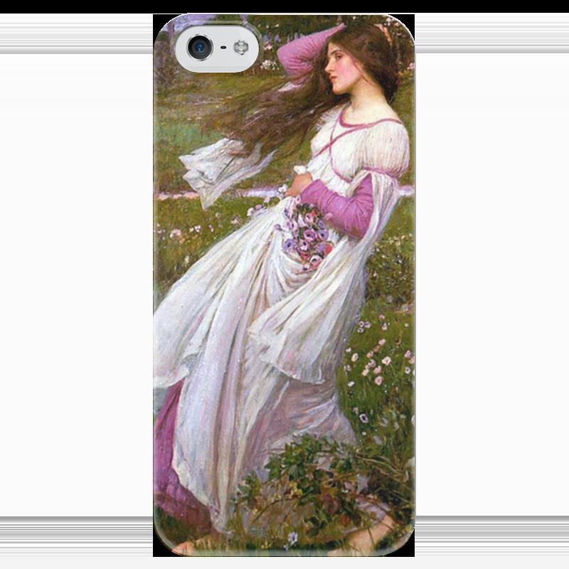 Чехол для iPhone 5 глянцевый, с полной запечаткой Printio Ветреницы (джон уильям уотерхаус) уильям пол янг ева