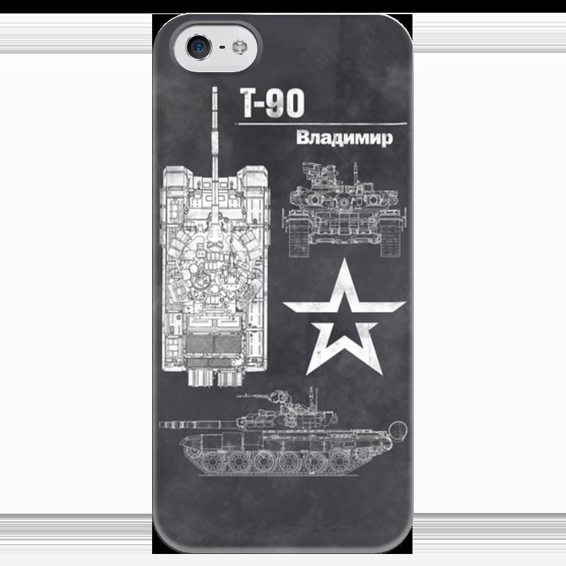 Чехол для iPhone 5 глянцевый, с полной запечаткой Printio Танк т-90 напильник truper т 15240